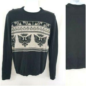 Buffalo David Bitton Crew Neck Wool Eagle Sweater
